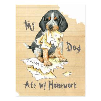 My Bluetick Ate My Homework Postcard