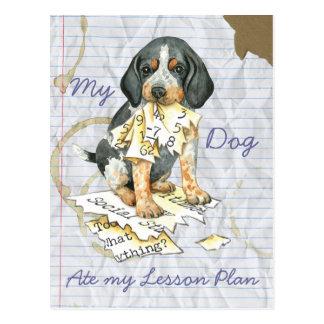 My Bluetick Ate My Lesson Plan Postcard
