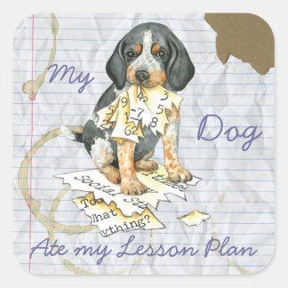 My Bluetick Ate My Lesson Plan Square Sticker