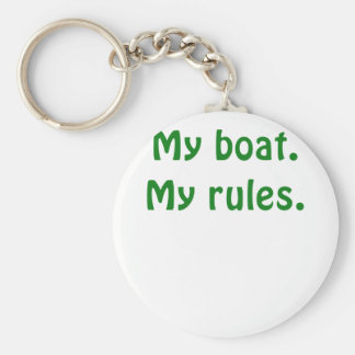 My Boat My Rules Basic Round Button Key Ring