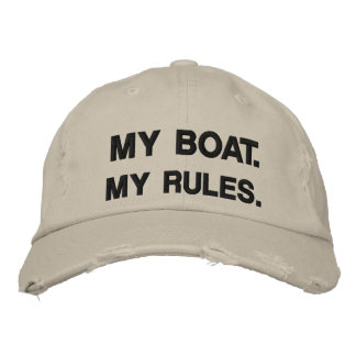 My Boat My Rules - funny boating Embroidered Baseball Cap