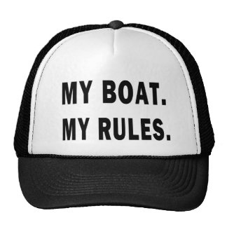 My Boat My Rules - funny boating Mesh Hats