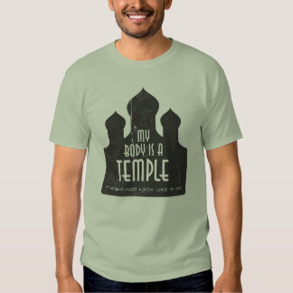 My Body Is A Temple 1 Template Tees