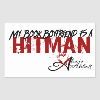 My Book Boyfriend is a Hitman Rectangular Sticker