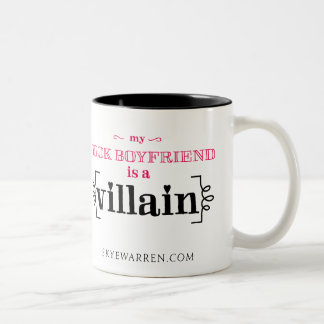 My Book Boyfriend Is A Villain Two-Tone Coffee Mug