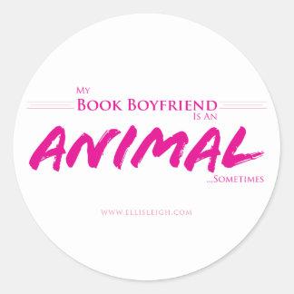 My Book Boyfriend... Round Sticker