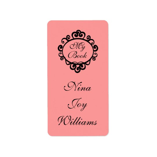 My Book Personalised Bookplate Sticker Gift Address Label