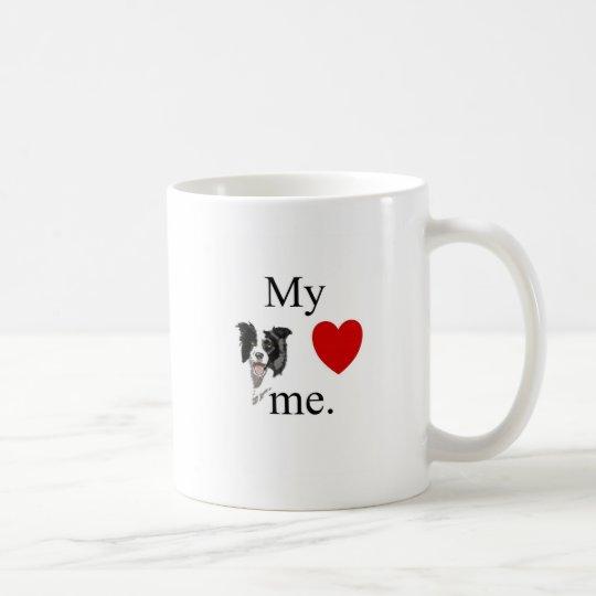My border collie loves me coffee mug