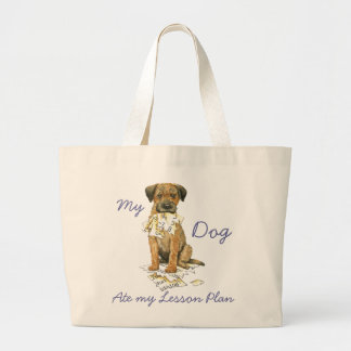 My Border Terrier Ate My Lesson Plan Jumbo Tote Bag