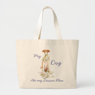 My Borzoi Ate my Lesson Plan Large Tote Bag