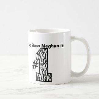 My BOSS is Number One Custom Name Zebra Print Basic White Mug