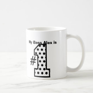 My BOSS is Number One Patterned Number B01 Basic White Mug