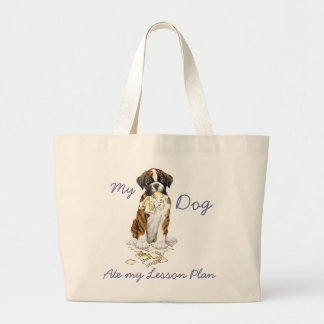 My Boxer Ate My Lesson Plan Jumbo Tote Bag