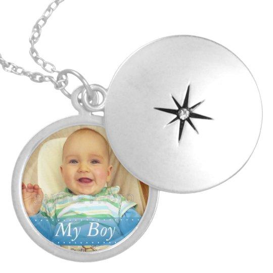 My Boy Blue Ribbon Personalised Locket Necklace