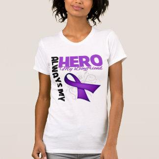 My Boyfriend Always My Hero - Purple Ribbon Tshirts