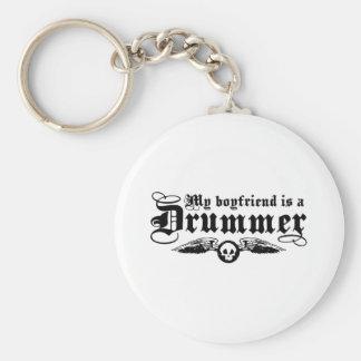 My Boyfriend Is A Drummer Basic Round Button Key Ring