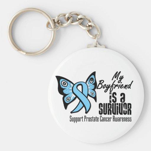 My Boyfriend is a Survivor - Prostate Cancer Keychain