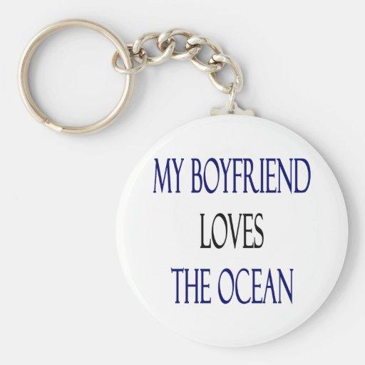 My Boyfriend Loves The Ocean Key Chains