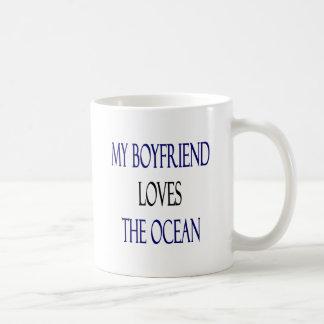 My Boyfriend Loves The Ocean Coffee Mug