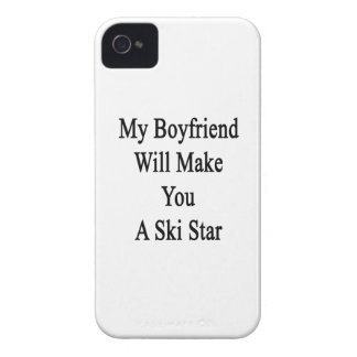 My Boyfriend Will Make You A Ski Star iPhone 4 Case-Mate Cases
