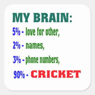 My Brain 90 % Cricket. Sticker