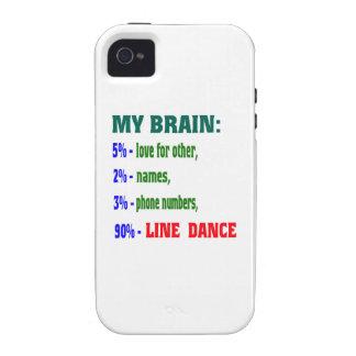 My brain 90% Line dance Case-Mate iPhone 4 Cases