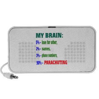 My Brain 90 % Parachuting. Mini Speakers
