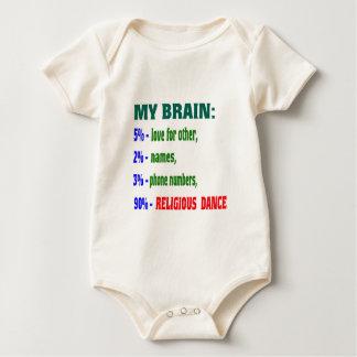 My brain 90% Religious dance Bodysuits