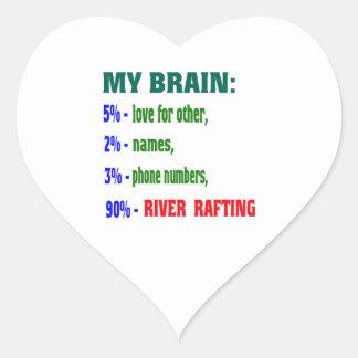 My Brain 90 % River Rafting. Stickers