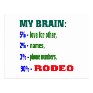 My Brain 90 % Rodeo. Post Cards