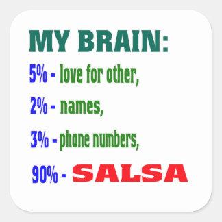 My Brain 90 % Salsa. Sticker