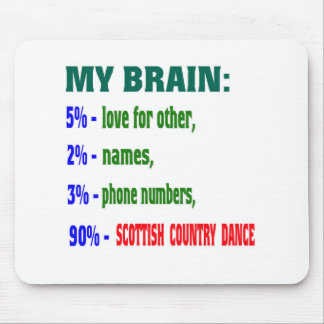 My brain 90% Scottish Country dance Mouse Pad