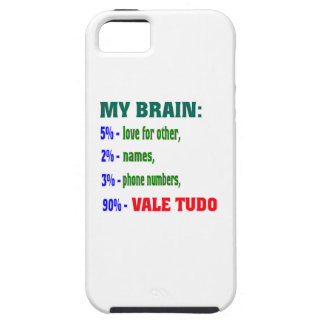 My Brain 90 % Vale Tudo. Case For iPhone 5/5S