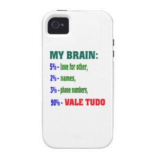 My Brain 90 % Vale Tudo. Case For The iPhone 4