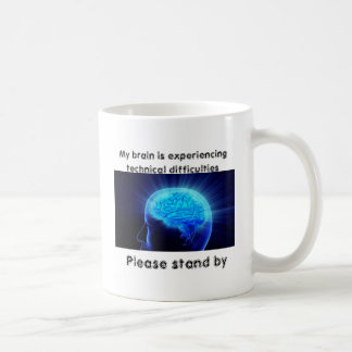 My brain is experiencing technical difficulties basic white mug