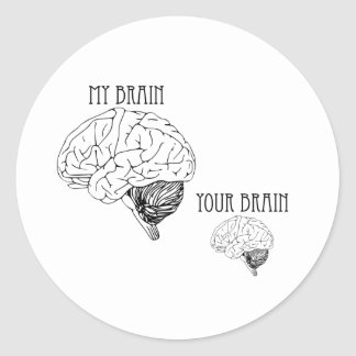 My Brain, Your Brain Round Sticker