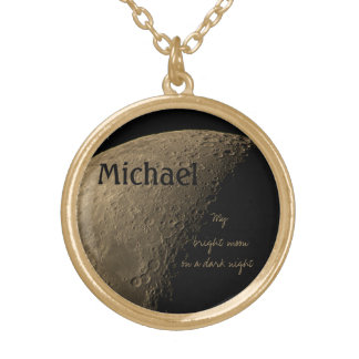 My Bright Moon on a Dark Night Necklace
