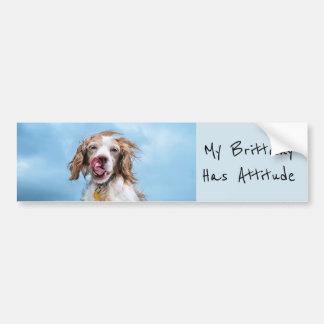 My Brittany Has Attitude Bumper Sticker