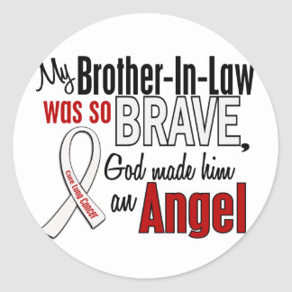 My Brother-In-Law Is An Angel Lung Cancer Round Sticker