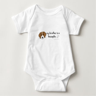 my brother is a beagle baby bodysuit