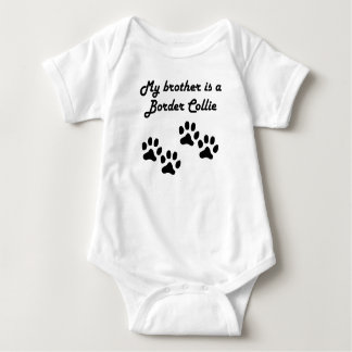 My Brother Is A Border Collie Baby Bodysuit