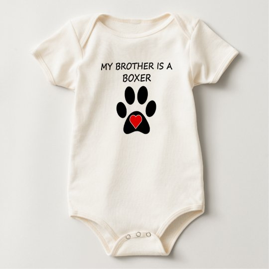 My Brother Is A Boxer Baby Bodysuit