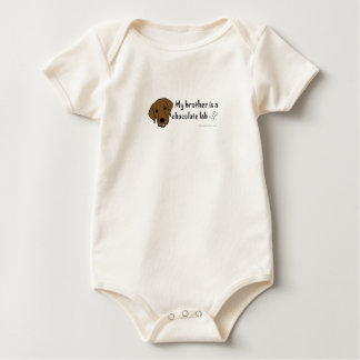 My brother is a chocolate lab more breeds in shop baby bodysuit