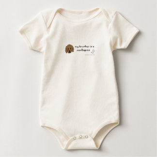my brother is a cockapoo - more dog breeds in shop baby bodysuit