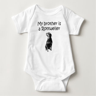 My Brother Is A Rottweiler Baby Bodysuit