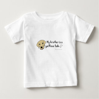 my brother is a yellow lab t shirts