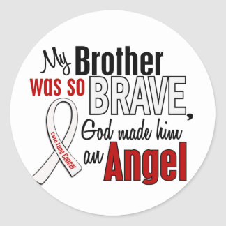 My Brother Is An Angel Lung Cancer Sticker