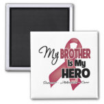 My Brother is My Hero - Multiple Myeloma Square Magnet