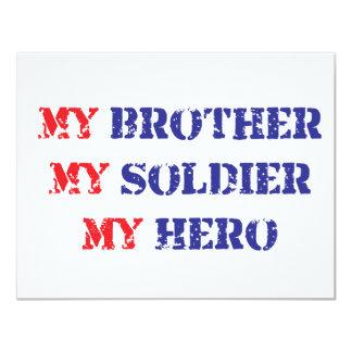 My brother, my soldier, my hero 11 cm x 14 cm invitation card