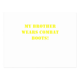My Brother Wears Combat Boots Postcard